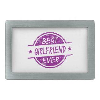 Best Girlfriend Ever Purple Belt Buckle