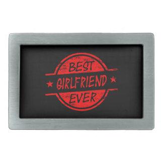Best Girlfriend Ever Red Belt Buckle