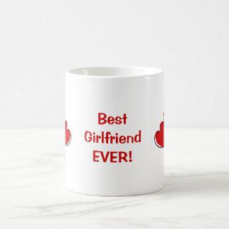 Best Girlfriend Ever! Red Sketchy Hearts Mug