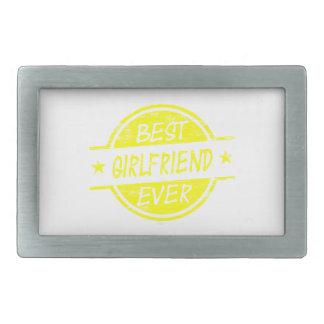 Best Girlfriend Ever Yellow Belt Buckle