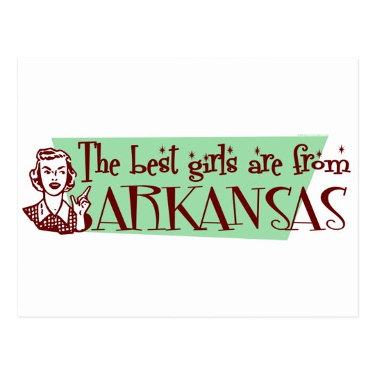 Best Girls are from Arkansas Postcard
