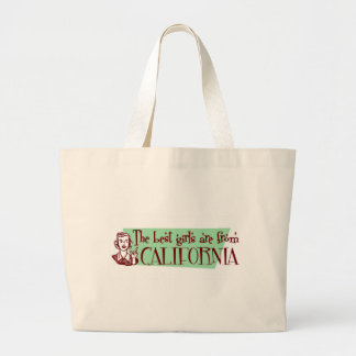 Best Girls are from California Jumbo Tote Bag