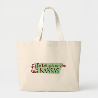 Best Girls are from Kansas Tote Bags