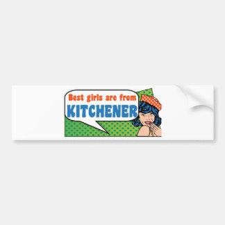 Best girls are from Kitchener Bumper Sticker