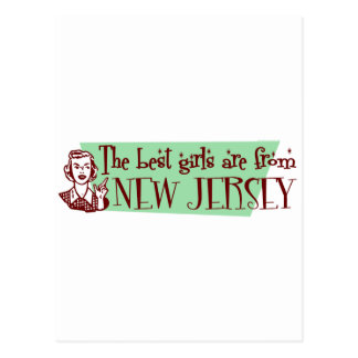 Best Girls are from New Jersey Postcard