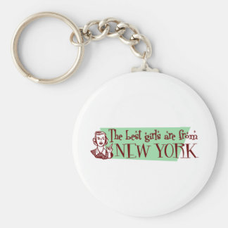 Best Girls are from New York Keychain