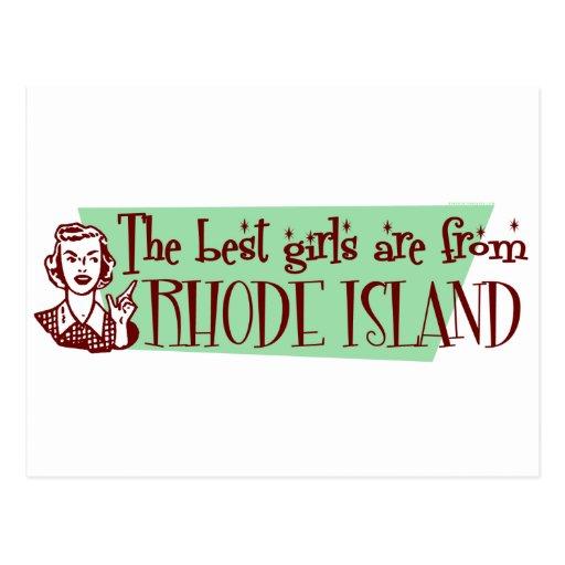 Best Girls are from Rhode Island Postcard