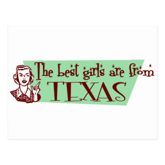 Best Girls are from Texas Postcard