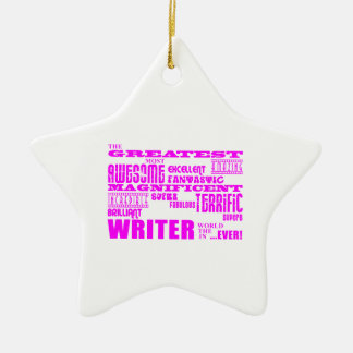 Best Girls Authors Writers : Pink Greatest Writer Christmas Ornament