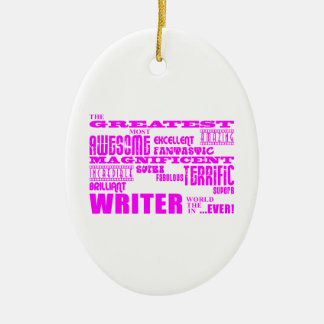 Best Girls Authors Writers : Pink Greatest Writer Ornaments