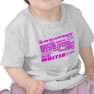 Best Girls Authors Writers : Pink Greatest Writer Tshirt