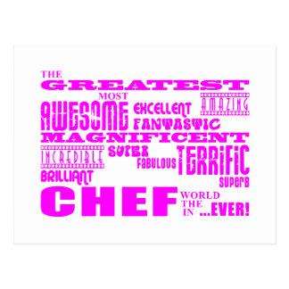 Best Girls Chefs Birthdays : Pink Greatest Chef Postcard