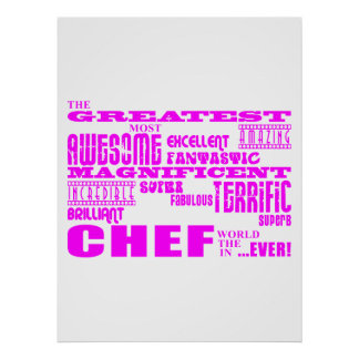 Best Girls Chefs Birthdays : Pink Greatest Chef Poster