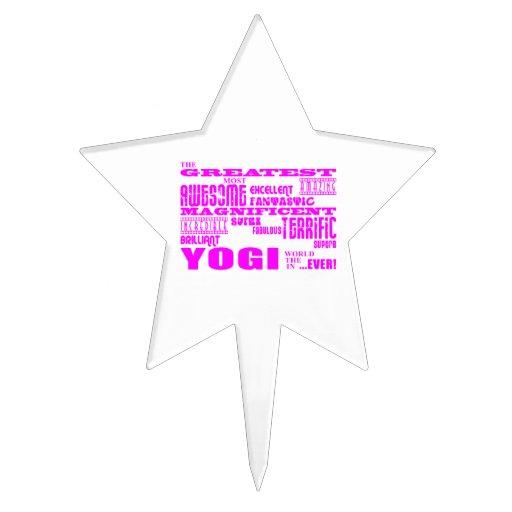 Best Girls Yogis Yoga : Pink Greatest Yogi Cake Pick