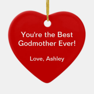 Best Godmother Ceramic Ornament