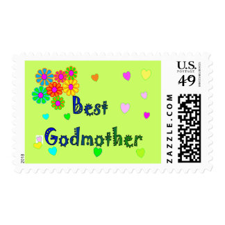 Best Godmother Gifts Postage Stamp