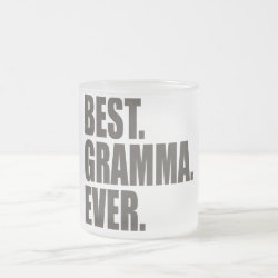 Frosted Glass Mug with Best. Gramma. Ever. design