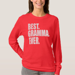 Women's Basic Long Sleeve T-Shirt with Best. Gramma. Ever. (pink) design
