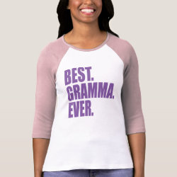 Ladies Raglan Fitted T-Shirt with Best. Gramma. Ever. (purple) design