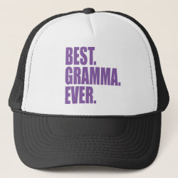 Trucker Hat with Best. Gramma. Ever. (purple) design
