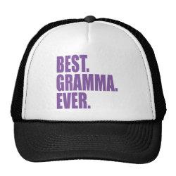 Trucker Hat with Best. Gramma. Ever. (purple) design