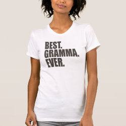 Women's American Apparel Fine Jersey Short Sleeve T-Shirt with Best. Gramma. Ever. design