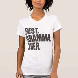 Women's American Apparel Fine Jersey Short Sleeve T-Shirt with Best. Gramma. Ever. design