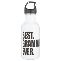 Water Bottle (24 oz) with Best. Gramma. Ever. design