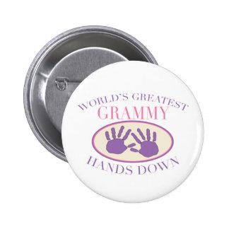 Best Grammy Hands Down T-shirt Button