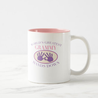 Best Grammy Hands Down T-shirt Two-Tone Coffee Mug