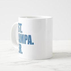 Jumbo Mug with Best. Grampa. Ever. (blue) design