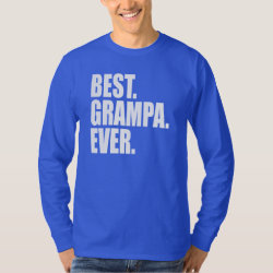 Men's Basic Long Sleeve T-Shirt with Best. Grampa. Ever. (blue) design