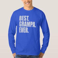 Men's Basic Long Sleeve T-Shirt with Best. Grampa. Ever. (blue) design