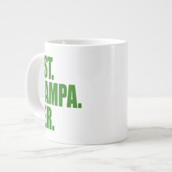 Jumbo Mug with Best. Grampa. Ever. (green) design