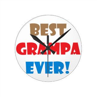 Best grampa ever round clock