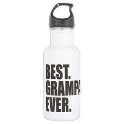 Water Bottle (24 oz) with Best. Grampa. Ever. design