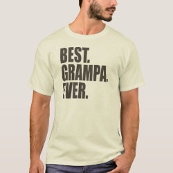 Men's Basic T-Shirt with Best. Grampa. Ever. design