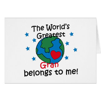 Best Gran Belongs to me Greeting Card