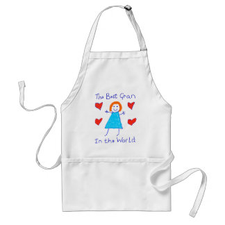 Best Gran In The World Adult Apron