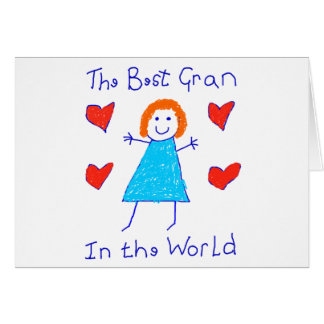 Best Gran In The World Greeting Card