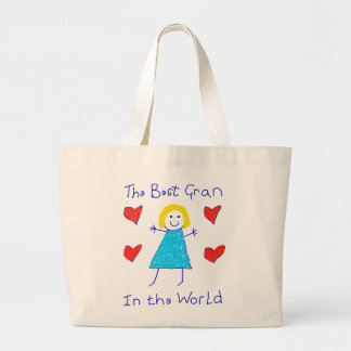 Best Gran In The World Large Tote Bag