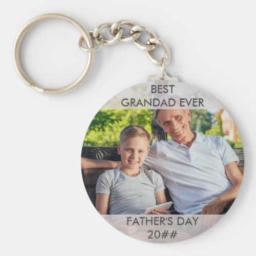 Best Grandad Ever Custom Fathers Day Photo Keychain