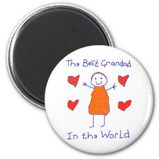 Best Grandad In The World 2 Inch Round Magnet
