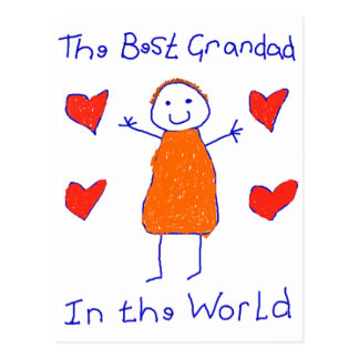 Best Grandad In The World Postcard