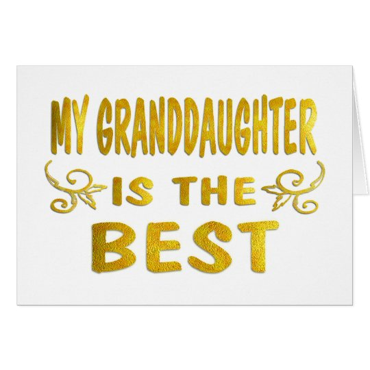 Best Granddaughter Card