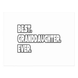 Best Granddaughter Ever Postcard