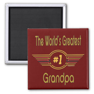 Best Grandfather Ever 2 Inch Square Magnet