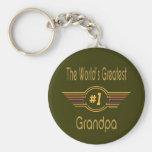 Best Grandfather Ever Basic Round Button Keychain