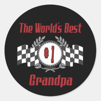 Best Grandfather Ever Classic Round Sticker