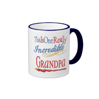 Best Grandfather Ever Ringer Coffee Mug